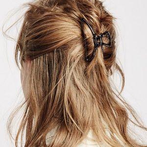Metal Hair CLIP Claw Barrette Gunmetal Silver NEW